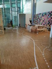 Fußbodenbeklebung Schloss Homburg