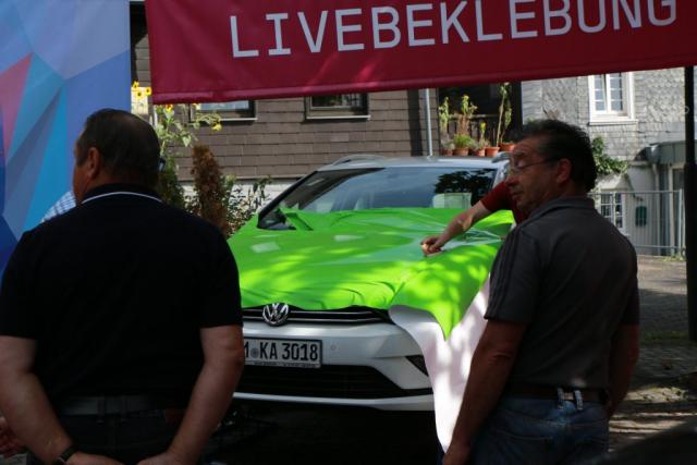 Die Werbeproduktur auf der Wiehler Auto-Mobil-Schau 2018