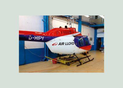 Hubschrauberbeklebung