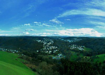 Drohnenfoto Panorama über Hengstenberg