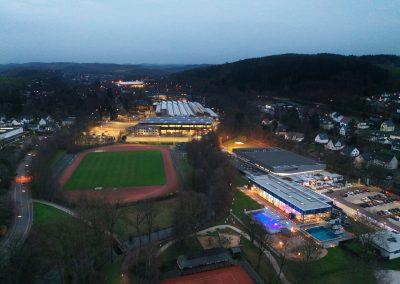 Drohnenfoto Wiehler Wasserwelt, Stadion und BPW