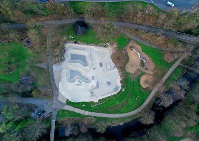 Drohnenfoto Wiehl Wheelpark