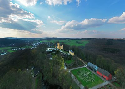 Drohnenfoto Schloss Homburg