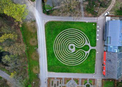 Drohnenfoto Schloss Homburg Labyrinth