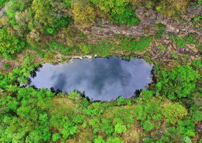 Drohnenfoto Steinbruchsee