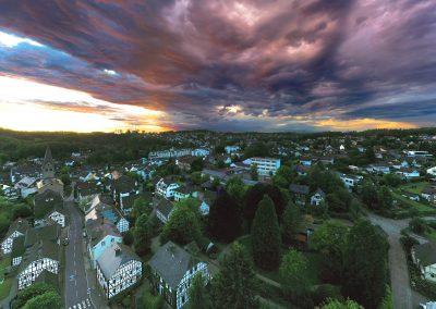 Drohnenfoto Wiehl Wolkenhimmel