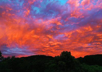 Drohnenfoto Wiehl Sonnenuntergang